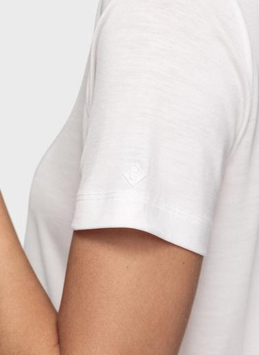 Gant Tişört Krem